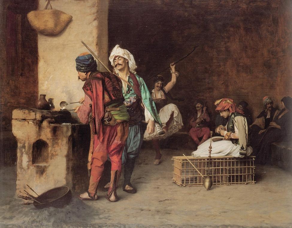 картина Кафе в Каире ::  Жером Жан Леон - Арабский восток фото