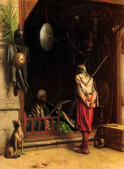 Оружейная лавка :: Жероме Жан Леон, картина - Арабский восток фото