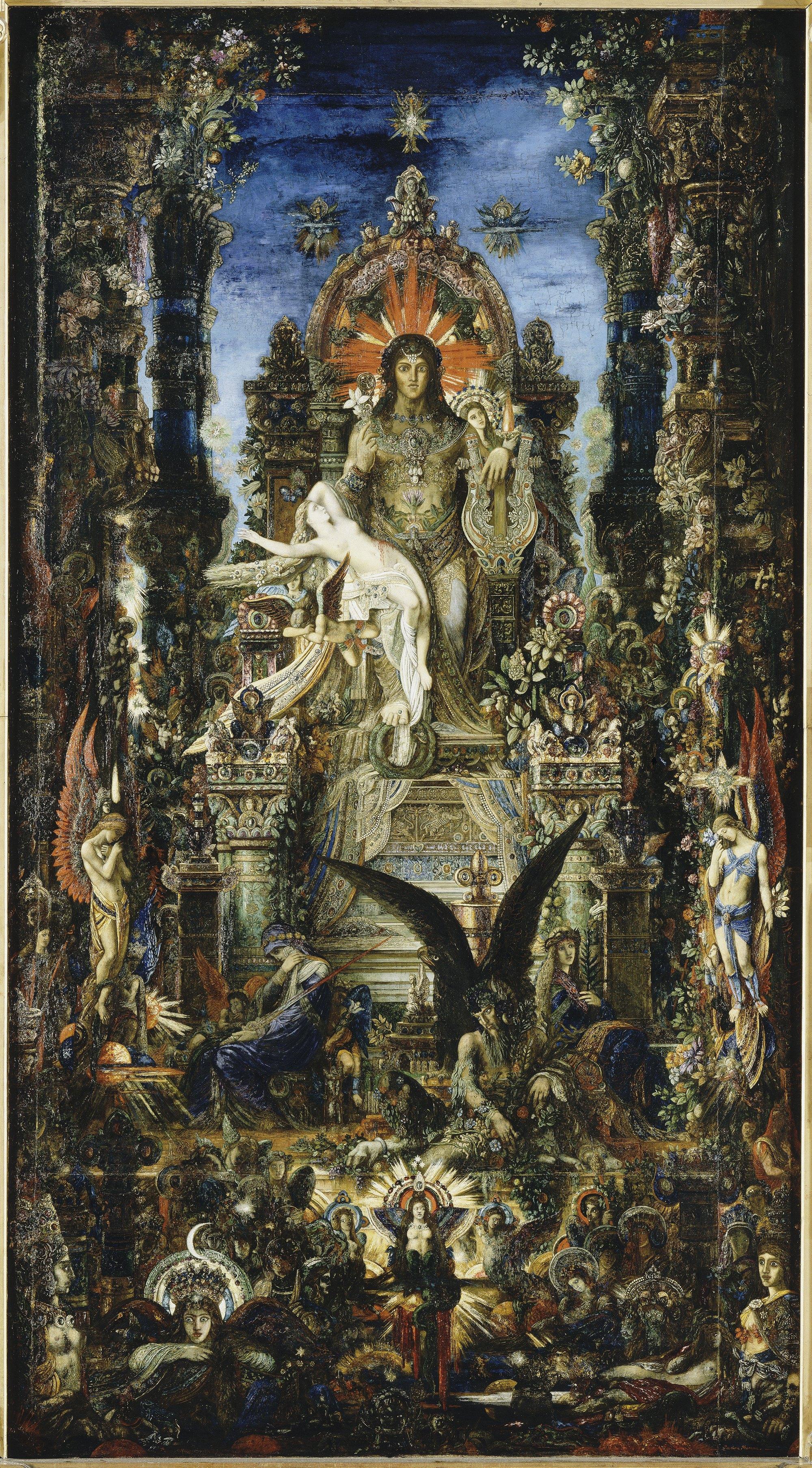 Юпитер и Семела :: Гюстав Моро, описание картины - Античная мифология фото