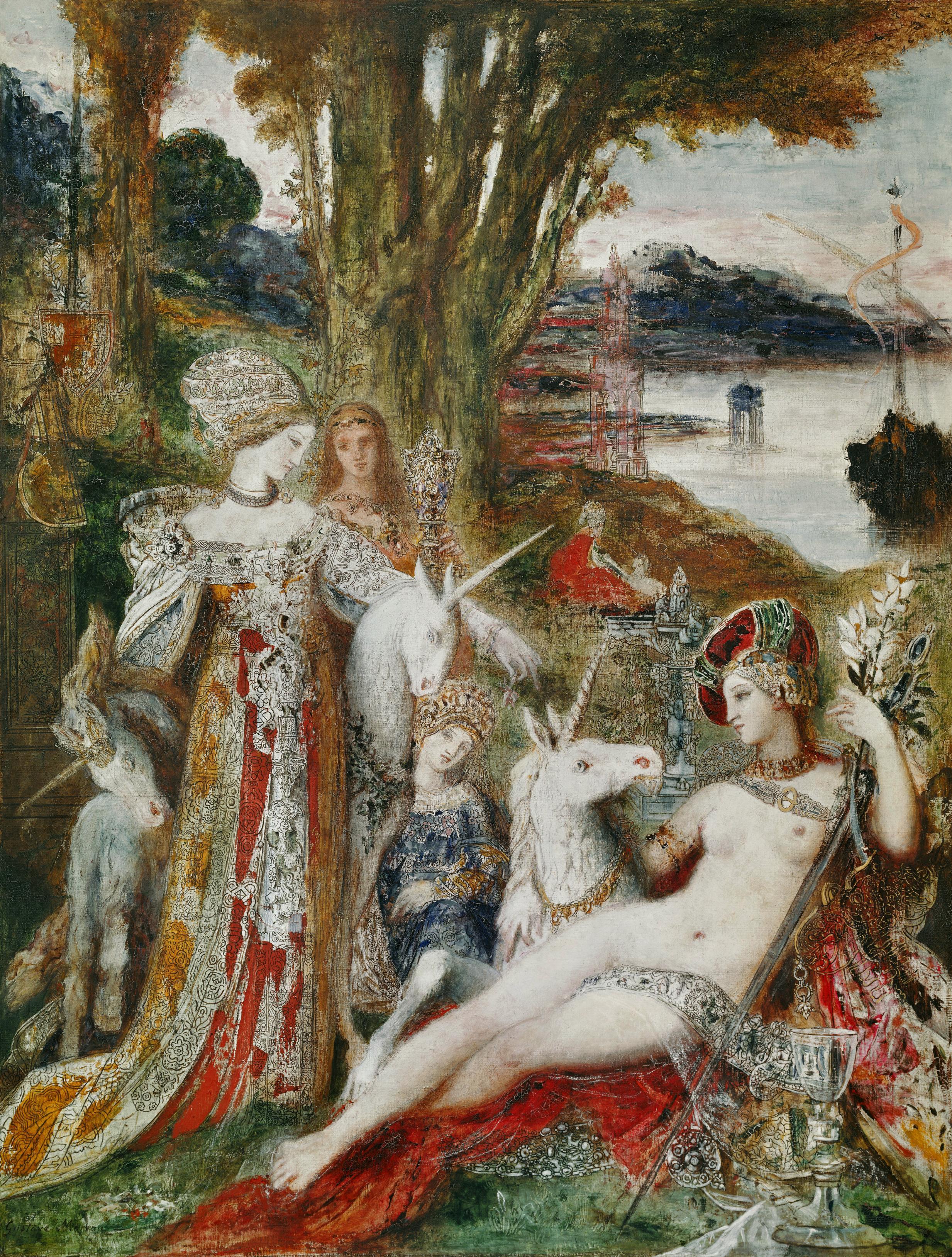 Единорог :: художник Густав Моро - Античная мифология фото