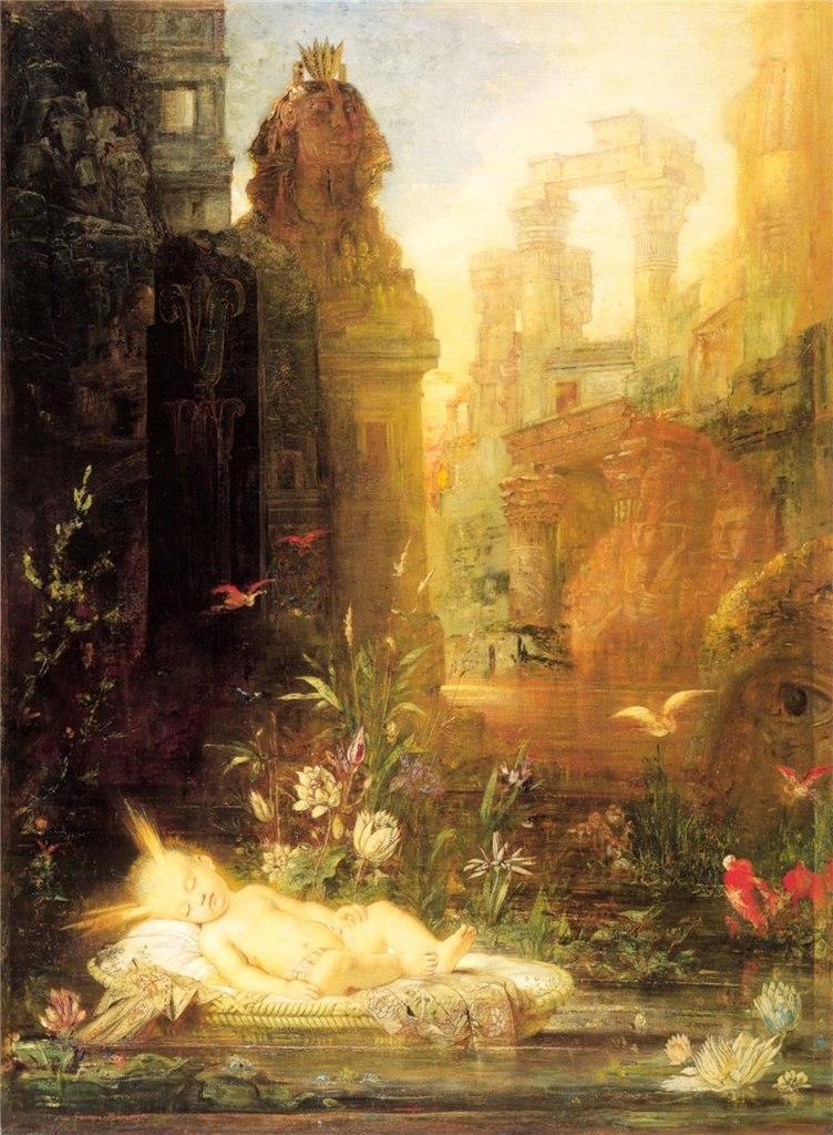 картина Младенец Моисей :: Гюстав Моро - Библейские сюжеты в живописи фото