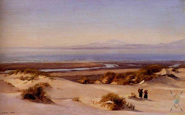 Пересекая Дюны, Залив Кардиган :: Генри Мур - Море в живописи ( морские пейзажи, seascapes ) фото