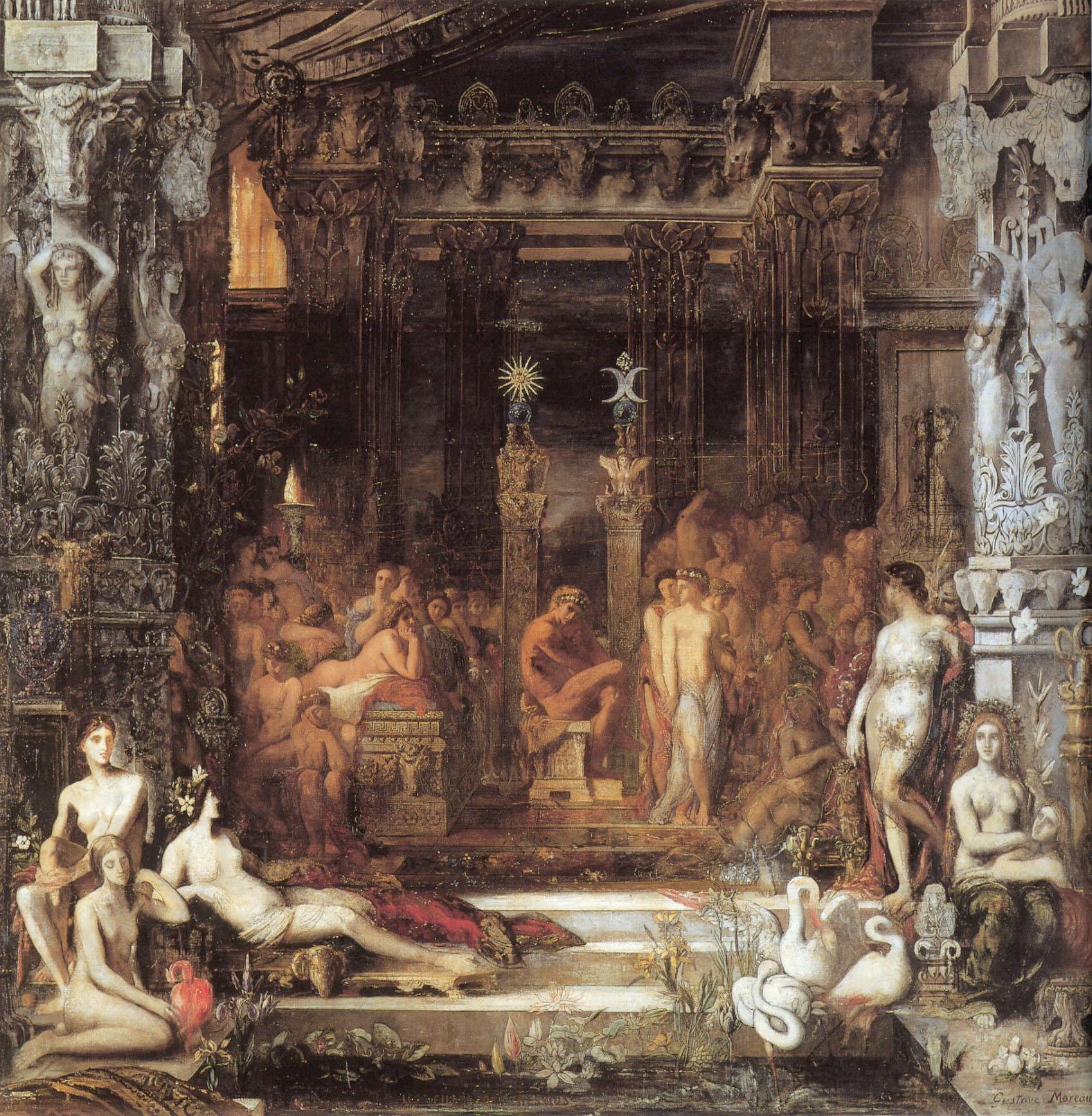 Дочери Тезея :: Гюстав Моро - Античная мифология фото