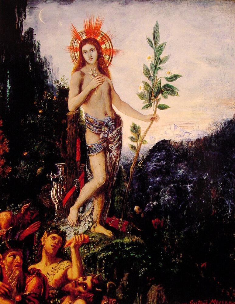 Апполон и сатиры :: Гюстав Моро - Античная мифология фото