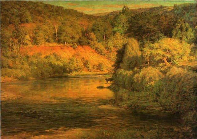 Закат :: Джон Отис Эдемс - Пейзаж ( пейзажная живопись ) фото