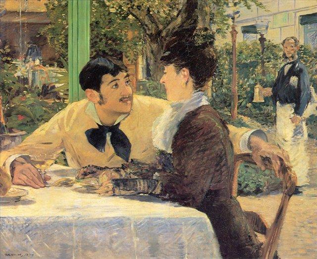 картина <у папаши Латюиля> :: Мане Эдуард - Edouard Manet (Эдуард Мане) фото