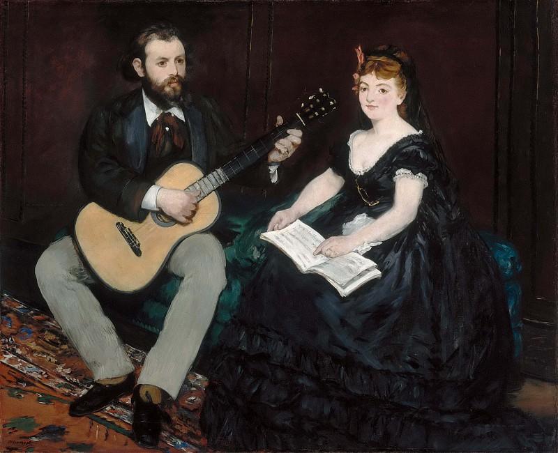 Урок музыки  :: Эдуард Мане, описание картины - Edouard Manet фото