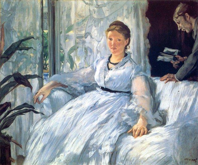 картина Чтение :: Эдуард Мане - Edouard Manet (Эдуард Мане) фото