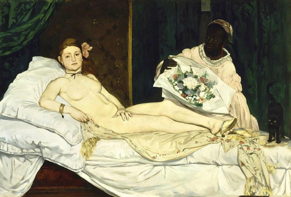 картина Олимпия :: Эдуард Мане - Edouard Manet (Эдуард Мане) фото