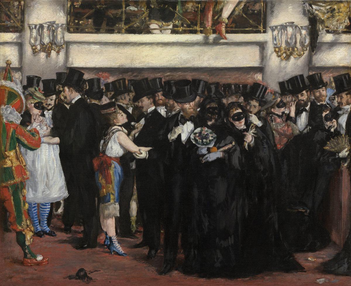 Маскарад в опере :: Эдуард Мане - Edouard Manet (Эдуард Мане) фото