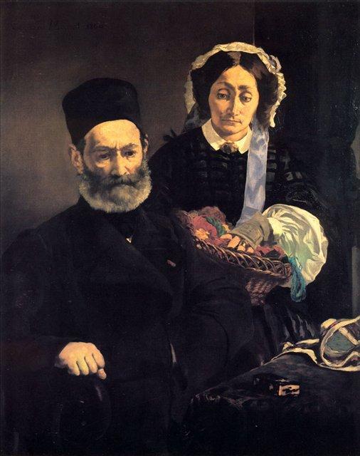 семейный портрет - Месье и мадам Мане :: Эдуард Мане - Edouard Manet фото