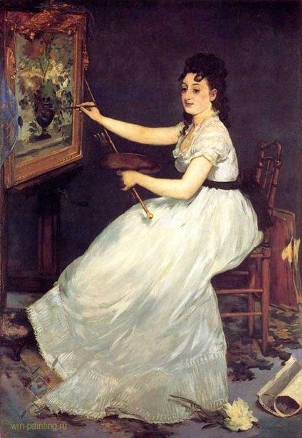 Портрет Евы Гонсалес :: Эдуард Мане - Edouard Manet (Эдуард Мане) фото