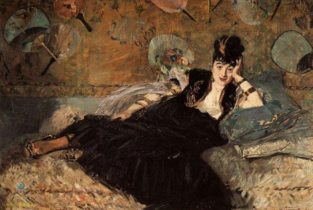 Женщина с веерами [Нина де Кальяс] :: Эдуард Мане - Edouard Manet (Эдуард Мане) фото