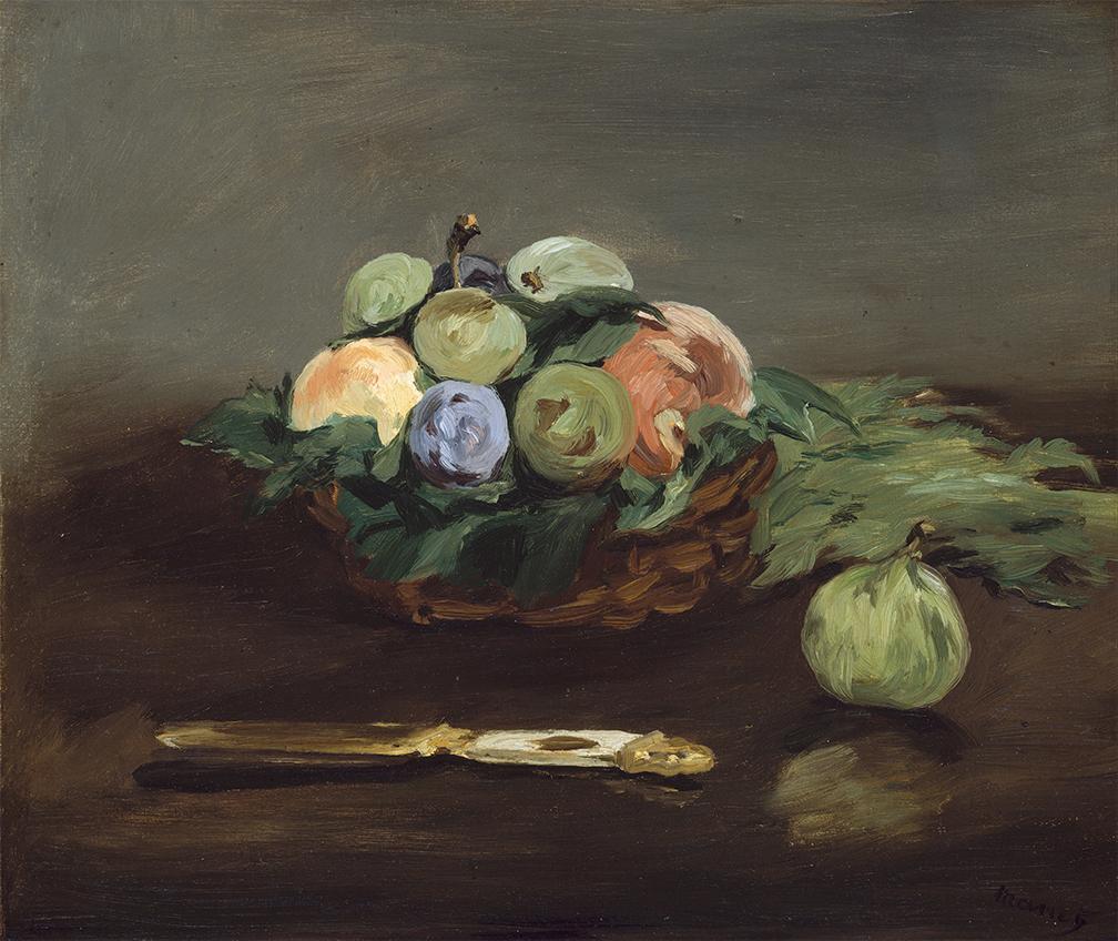 картина Корзина фруктов :: Эдуард Мане - Натюрморт, цветы ( new ) фото
