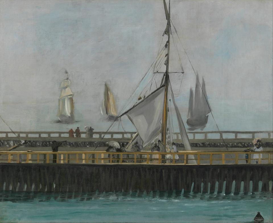 Пристань  в Булони :: Эдуард Мане, описание картины - Edouard Manet фото