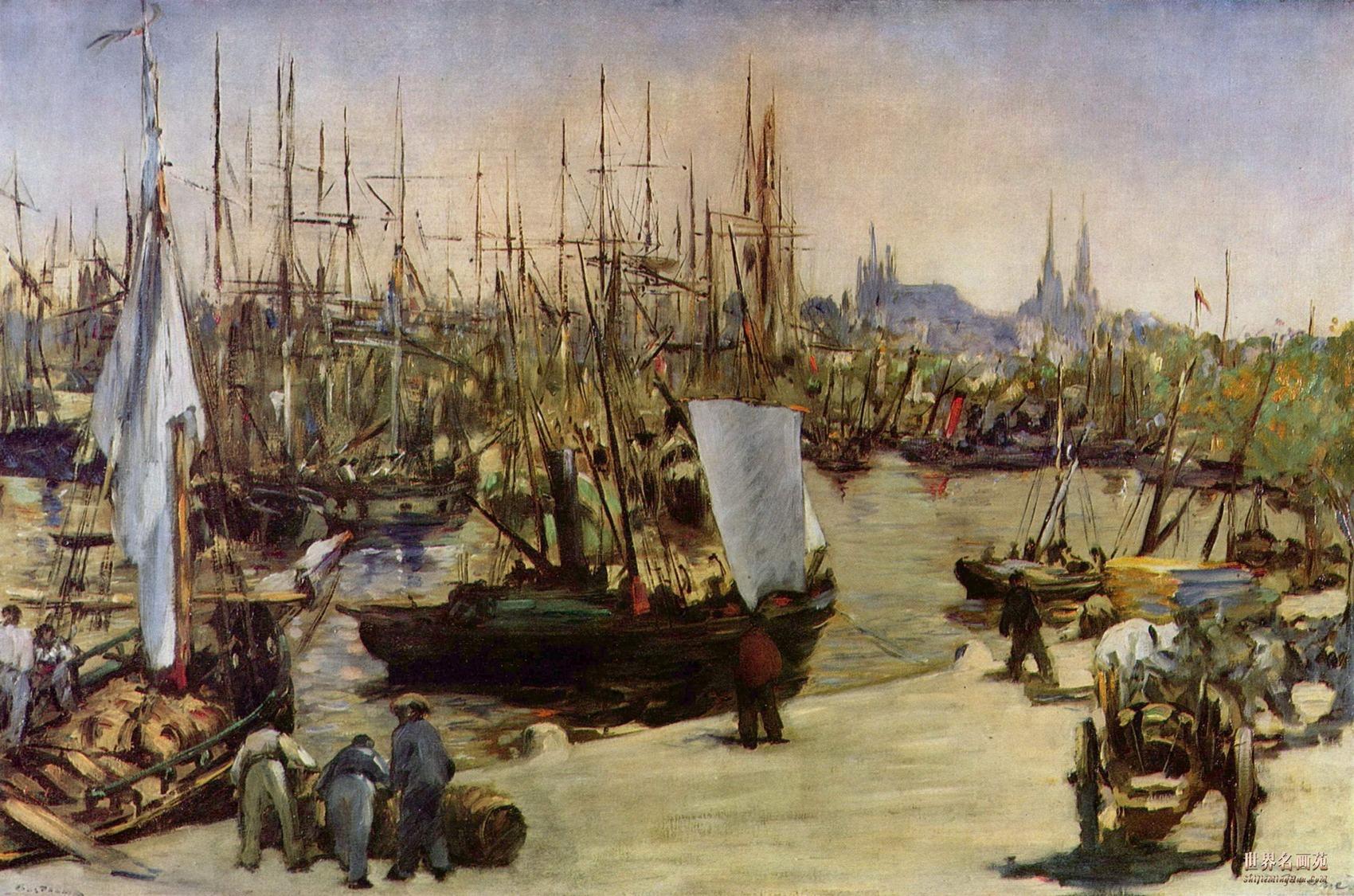 Гавань в Бордо :: Эдуард Мане - Edouard Manet (Эдуард Мане) фото