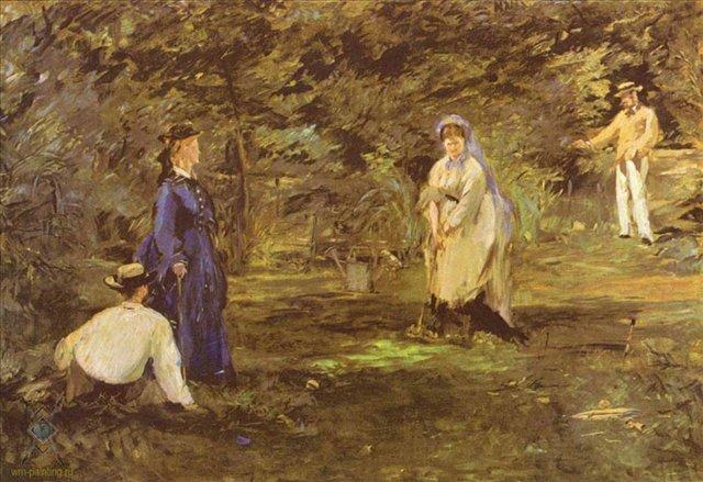 картина Партия в крикет :: Эдуард Мане - Edouard Manet (Эдуард Мане) фото