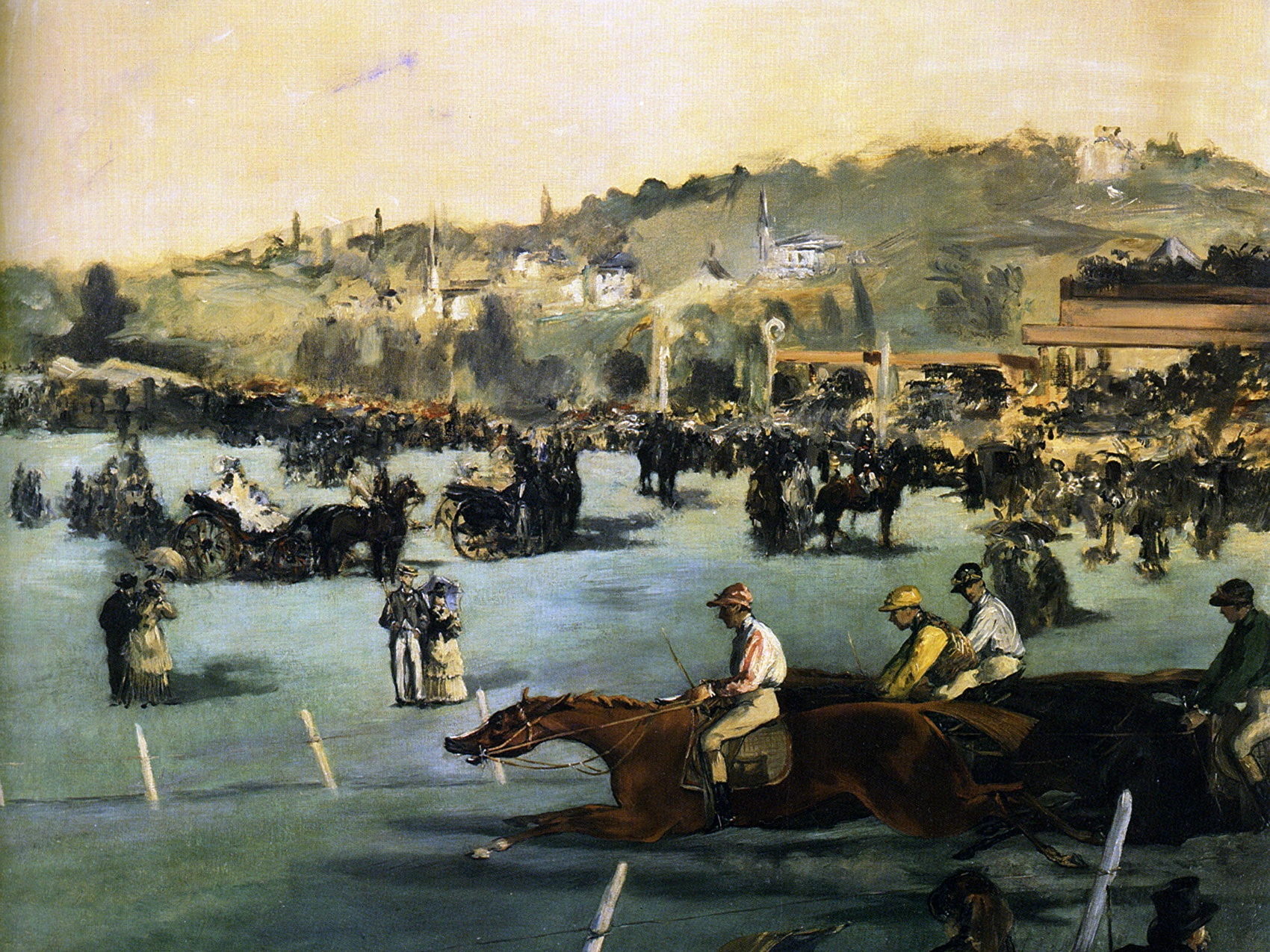 картина скачки в Булонском лесу :: Эдуард Мане - Edouard Manet (Эдуард Мане) фото