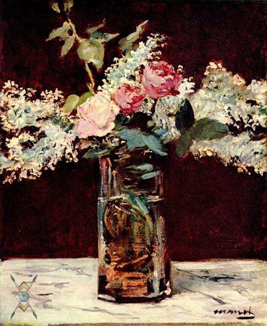 Натюрморт, сирень и розы :: Эдуард Мане - Edouard Manet (Эдуард Мане) фото