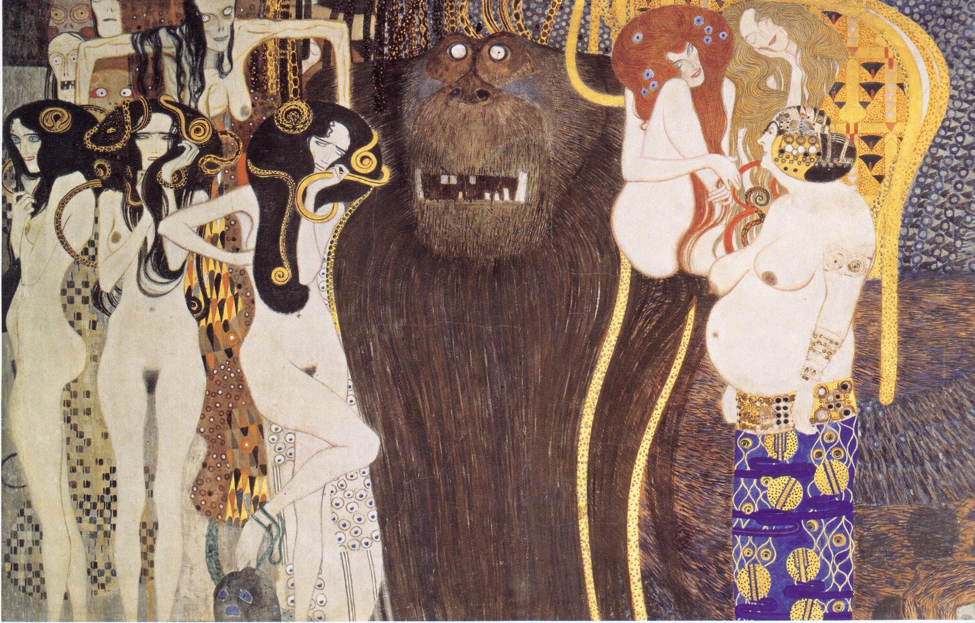 Фриз Бетховена (деталь: враждебные силы)  :: Густав Климт - Gustav Klimt (Климт Густав ) фото