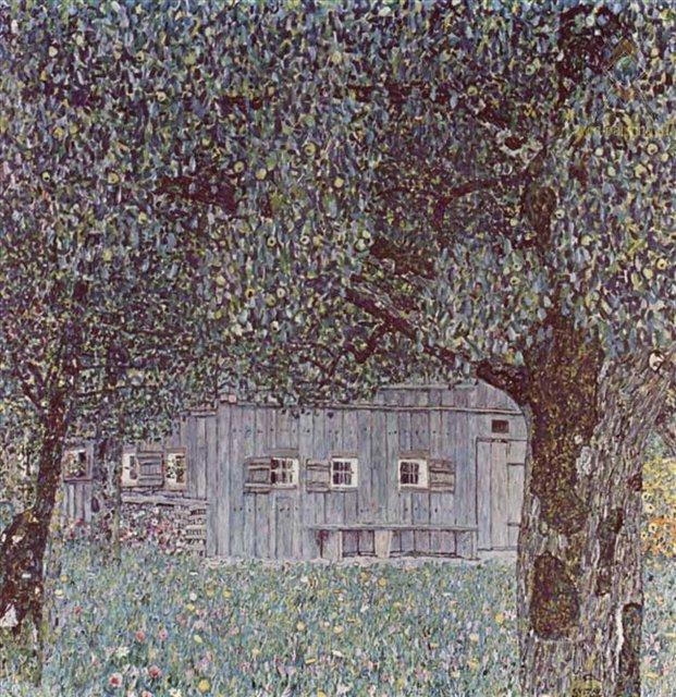 Деревенский дом :: Густав Климт - Пейзаж ( пейзажная живопись ) фото
