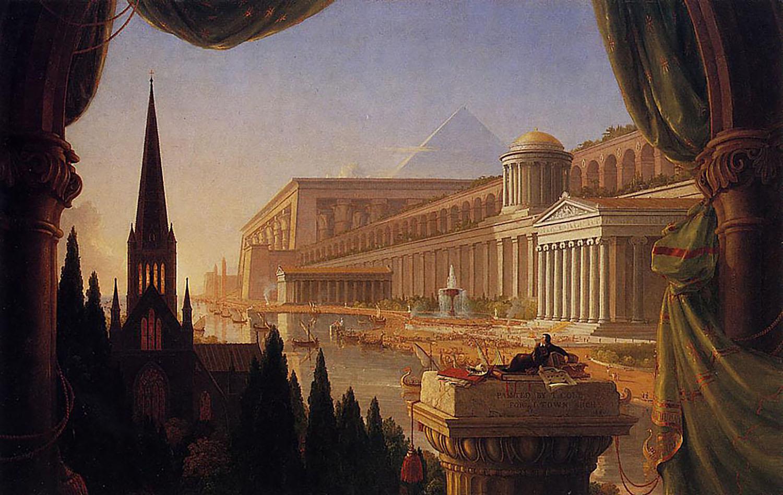 архитектурные пейзажи, шедевры мировой живописи, картины художников прошлого - Архитектура фото