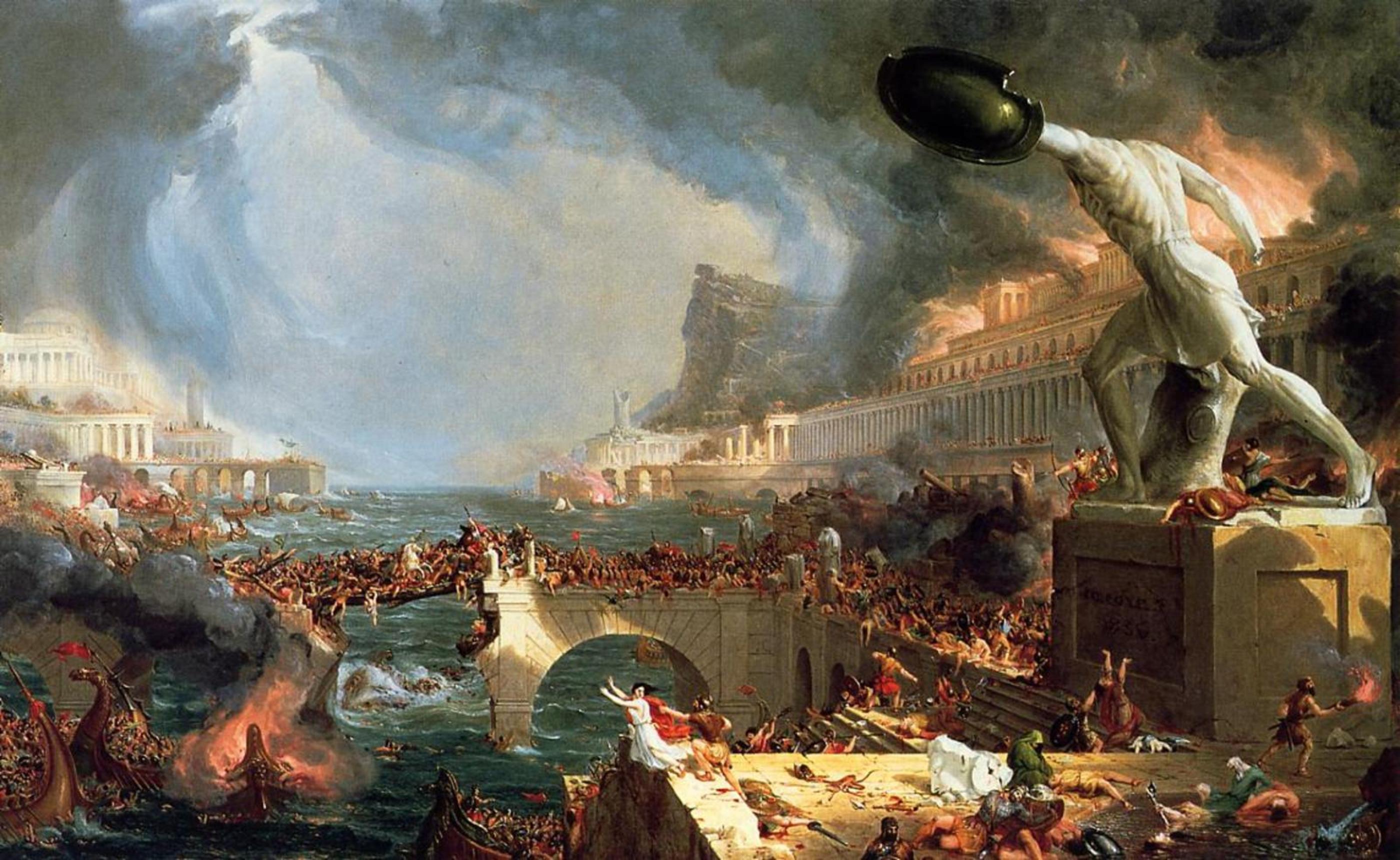 картина Падение Римской империи :: Томас Коул - Архитектура фото