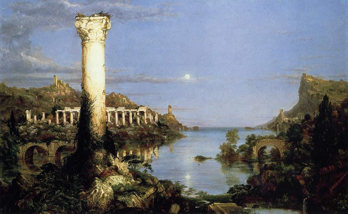 картина Падение Римской империи, Опустошение :: Томас Коул ( США ) - Архитектура фото