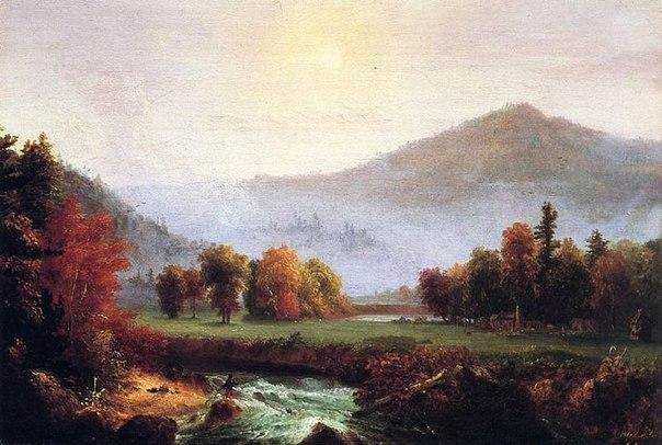 утренний туман в Плимуте Нью Хемпшир :: Томас Коул - Пейзаж ( пейзажная живопись ) фото