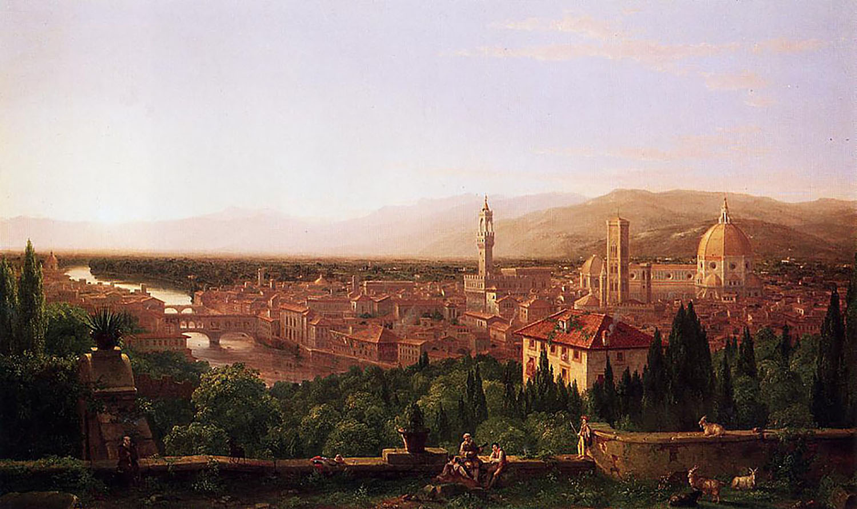 картина Вид на Флоренцию :: Томас Коул - Архитектура фото