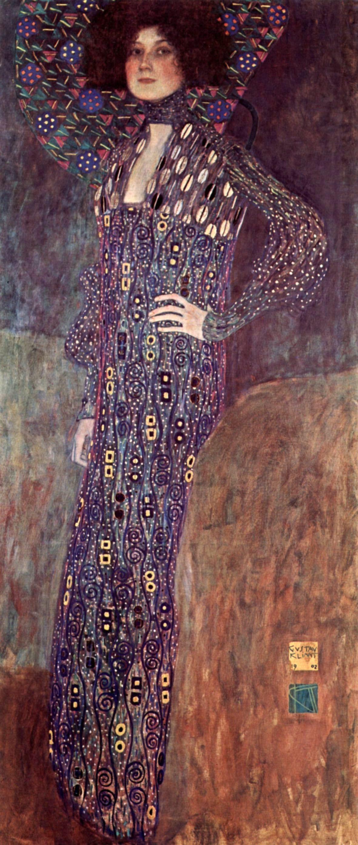 Портрет Эмилии Флоге :: Густав Климт - Gustav Klimt (Климт Густав ) фото