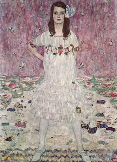 Портрет Евгении Примаверси :: Густав Климт - Gustav Klimt (Климт Густав ) фото