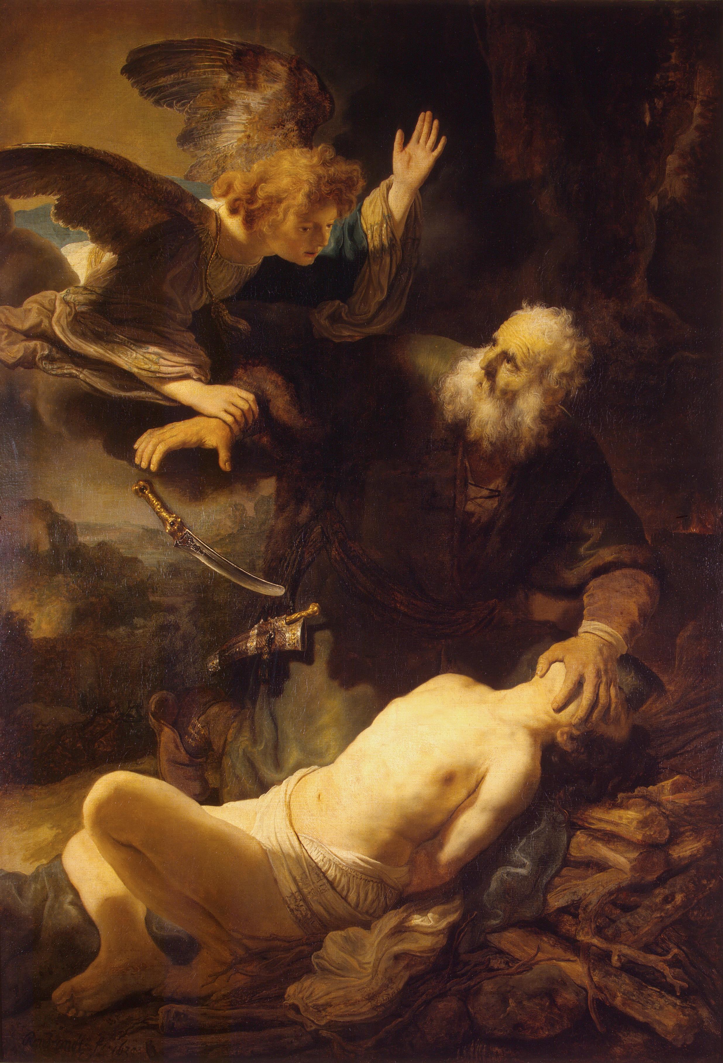 картина < Жертвоприношение Авраама > :: Рембрандт ван Рейн - Rembrandt (Рембрандт) фото