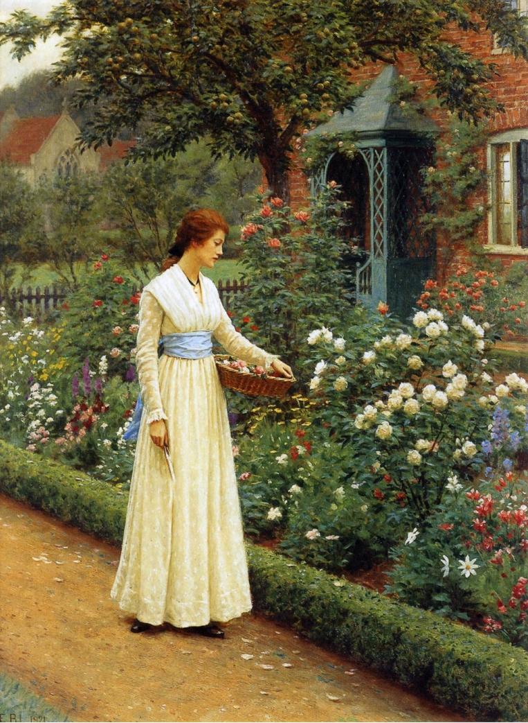 картина Летние розы :: Джон Хейтер - Натюрморт, цветы ( new ) фото