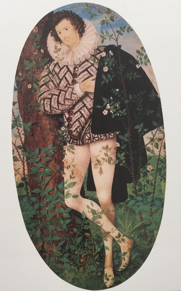 картина Юноша прислонившийся к дереву среди роз :: Николас Хилард, плюс статья Варианты использования пледов при декорировании помещений - спальни, гостиные и пр. - Натюрморт, цветы ( new ) фото