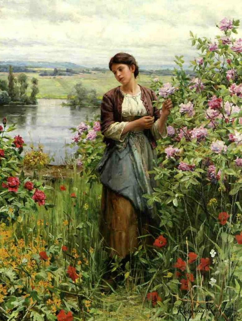 Джулия среди роз :: Дэниэл Ридвей Найт - Натюрморт, цветы ( new ) фото