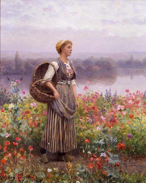 Картинки девушки в цветах