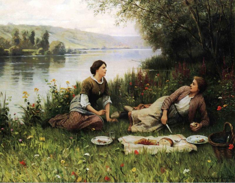 Пикник в Нормандии :: Дэниэл Ридвей Найт - Пейзаж ( пейзажная живопись ) фото