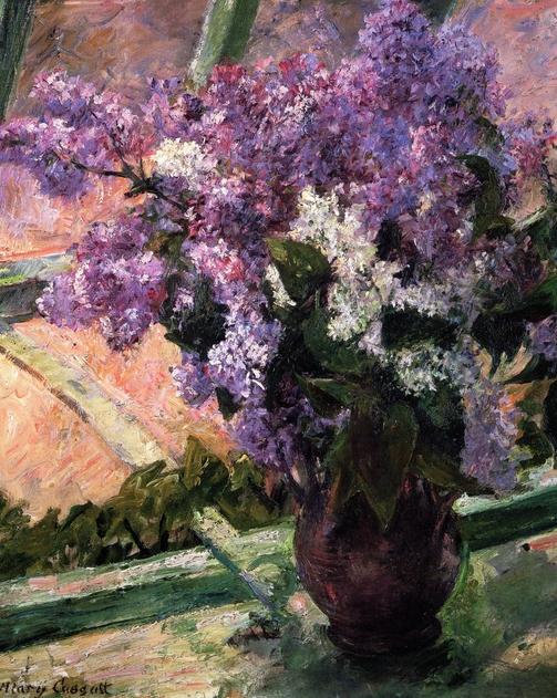 картина Букет сирени на окне :: Мари Кассат - Натюрморт, цветы ( new ) фото
