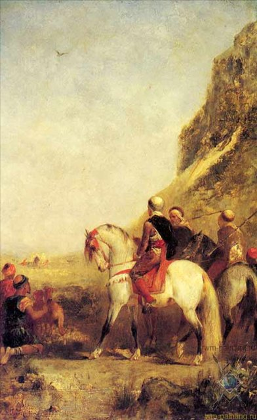 Арабская охота с ястребом - Жанровые сцены фото