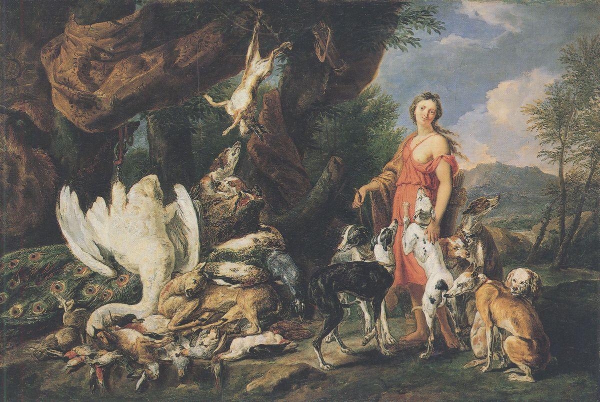 Диана и её охотничьи псы возле битой дичи :: Ян Фит - Жанровые сцены фото