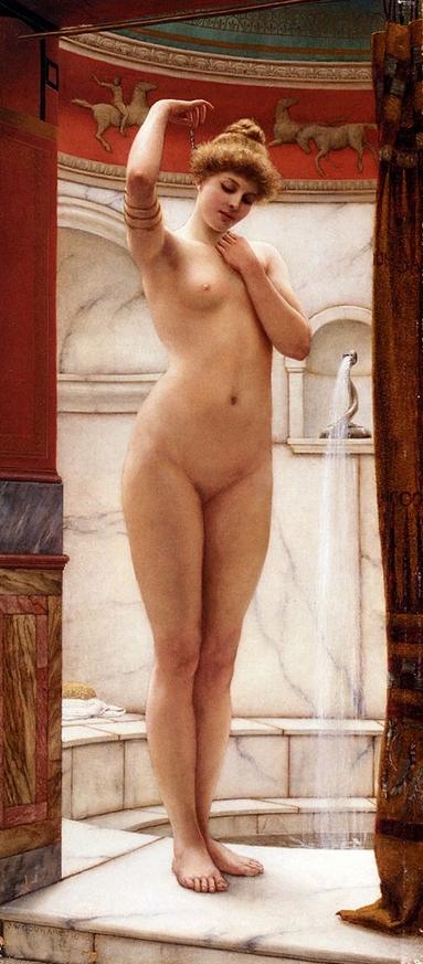Римские бани :: Джон Уйльям Годвард - Картины ню, эротика в шедеврах живописи фото