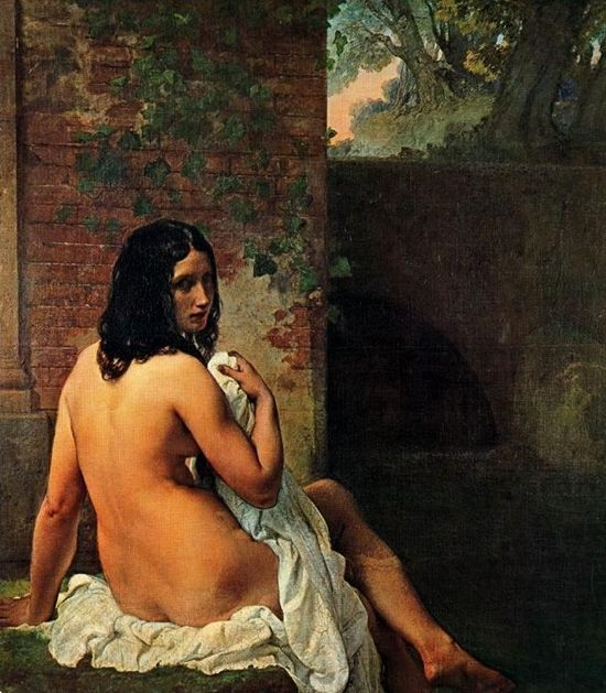 Купающаяся Сюзанна :: Франческо Хейз - Картины ню, эротика в шедеврах живописи фото