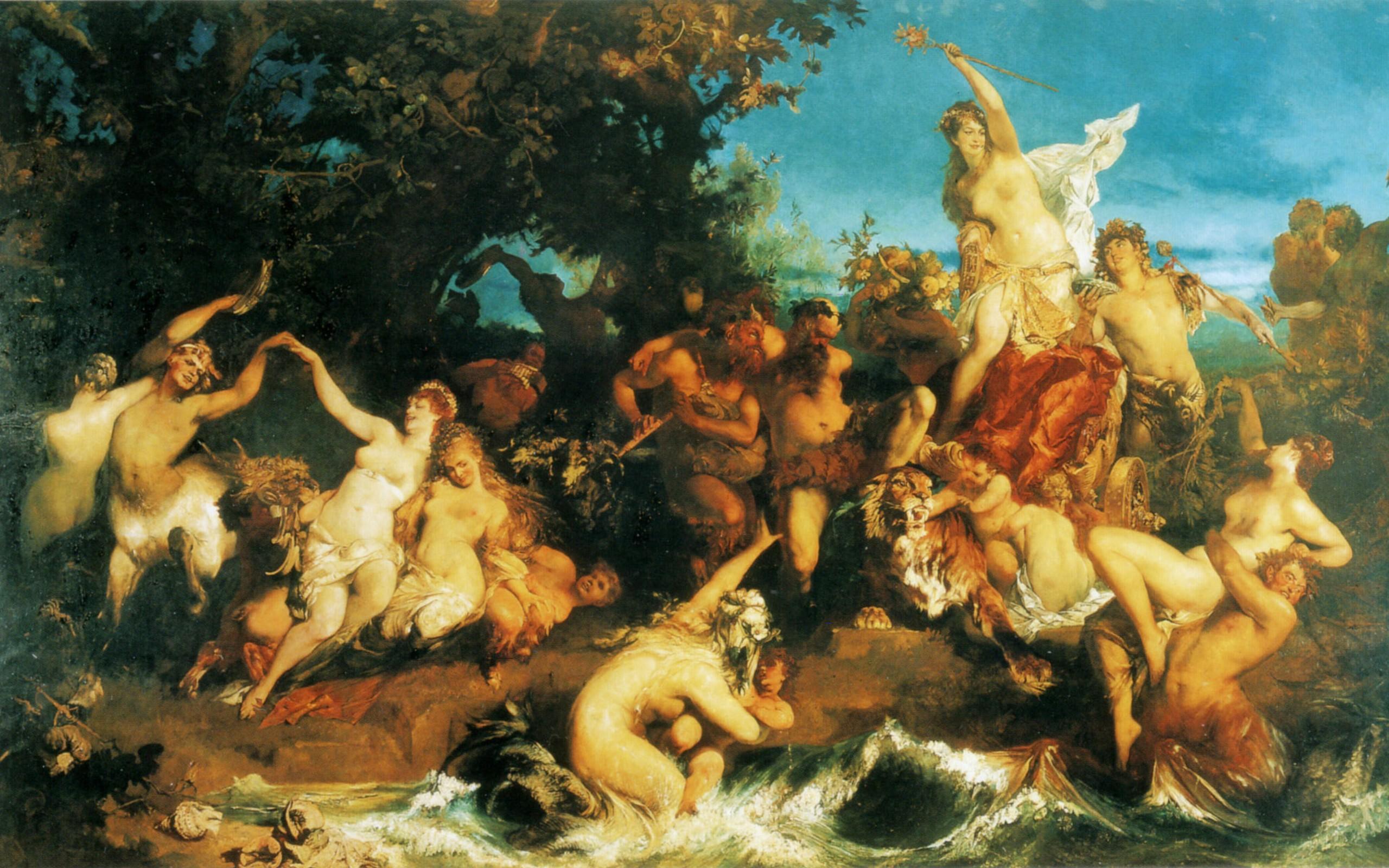 Труиумф Ариадны :: Ханс Макарт ( Австрия ) - Античная мифология фото