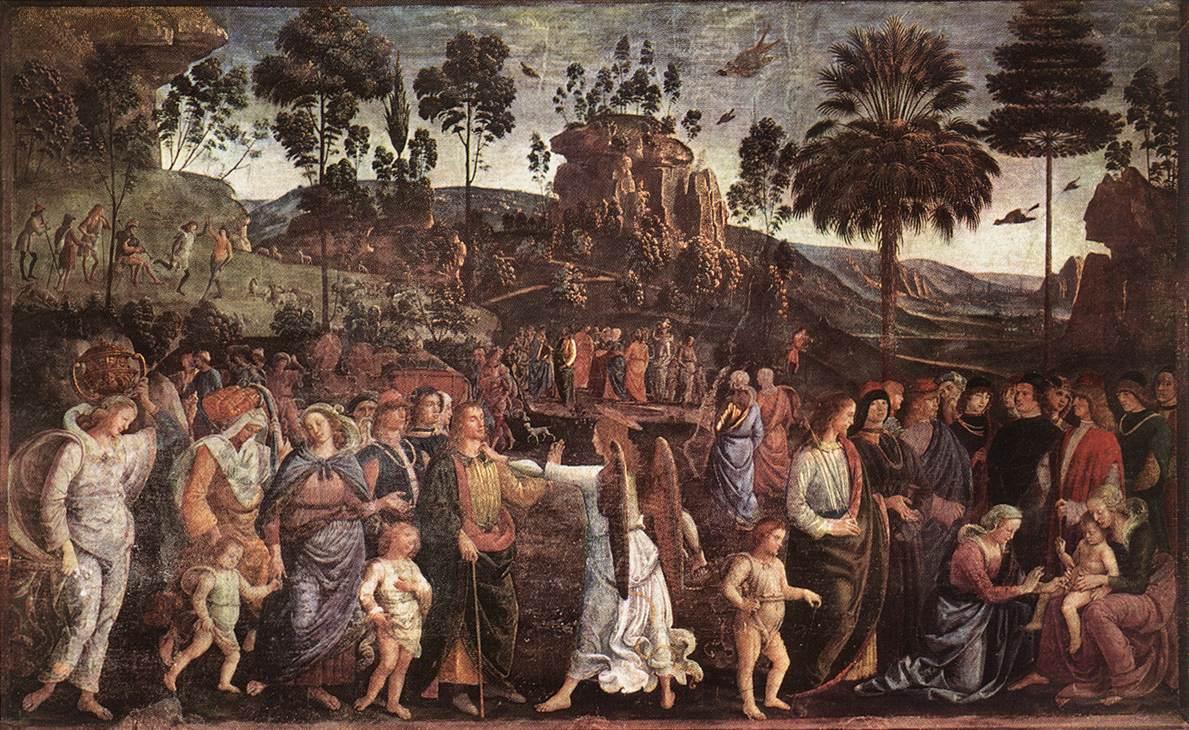Исход Моисея из Египта :: Пьетро Перуджино - Библейские сюжеты в живописи фото