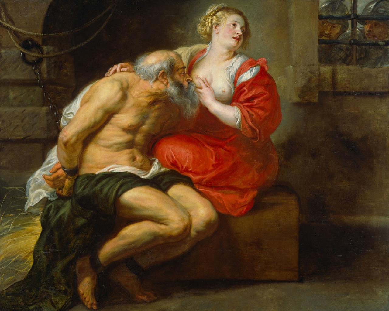 картина <Симон (Цимон) и Перо> :: Питер Пауль Рубенс - (Peter Paul Rubens) Рубенс Питер Пауль фото