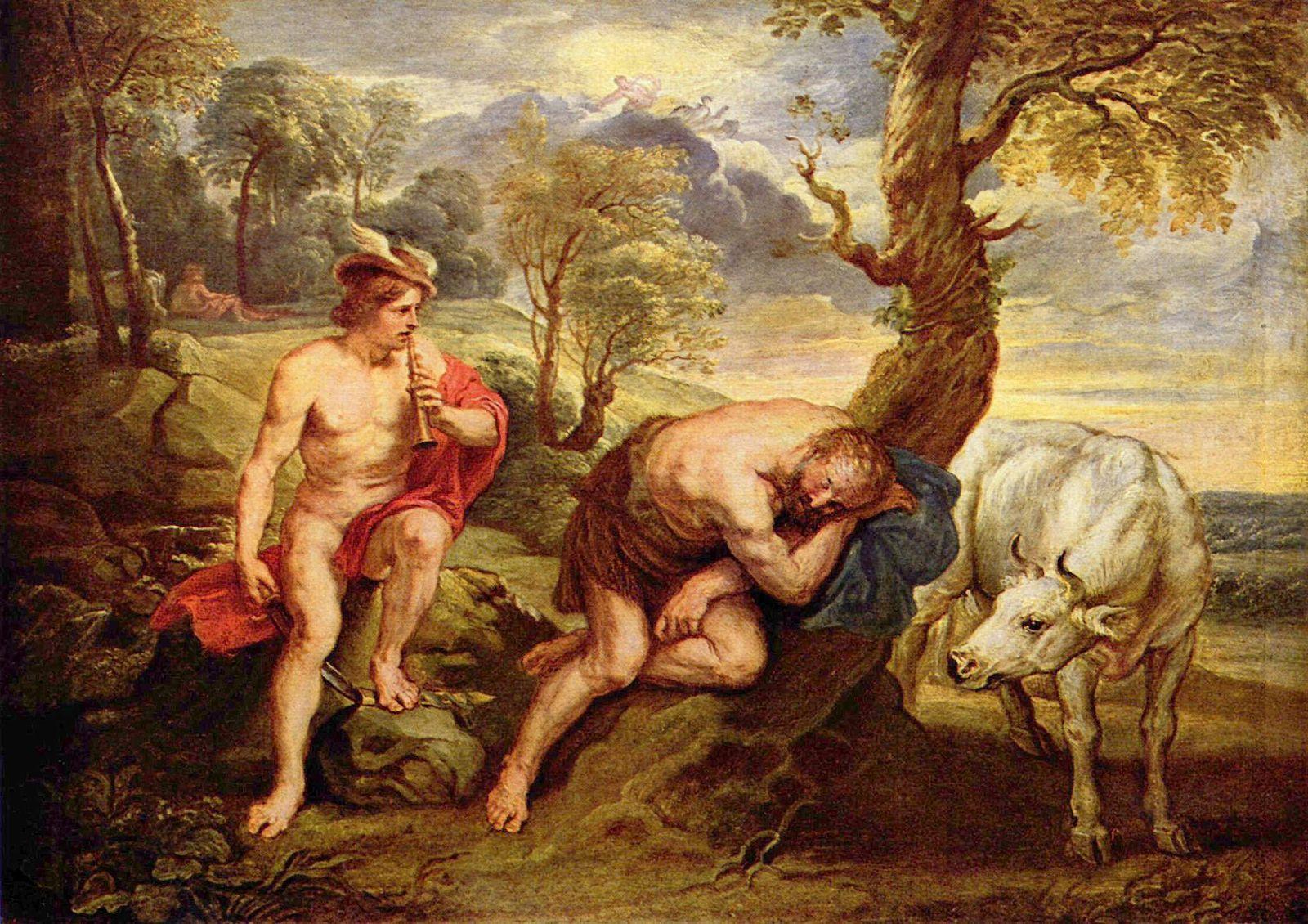 Меркурий и Аргус ( Гермес и Аргус ) :: Питер Пауль Рубенс - (Peter Paul Rubens) Рубенс Питер Пауль фото