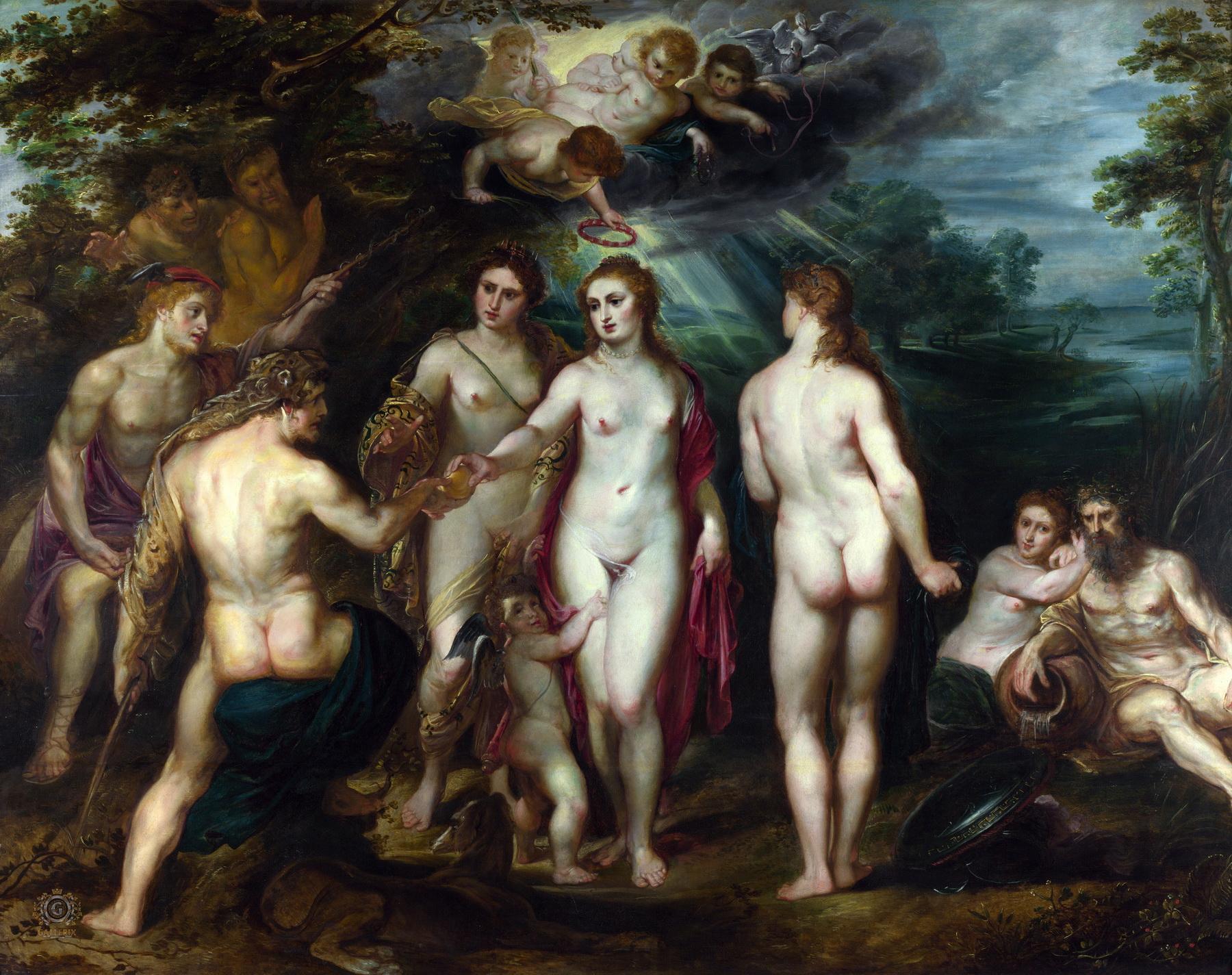 Суд Париса :: Питер Пауль Рубенс, описание картины - Peter Paul Rubens фото