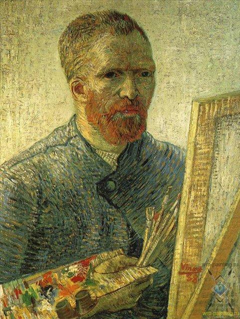 Автопортрет перед мольбертом :: Ван Гог, описание картины  - Van Gogh (Ван Гог) фото