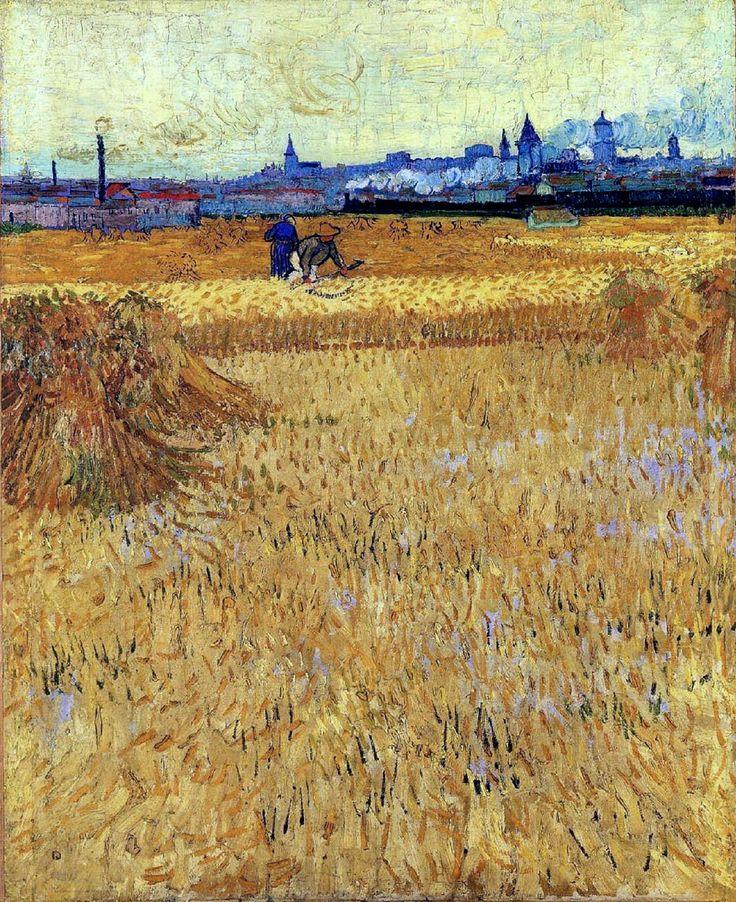 Вид на Арли с пшеничного поля :: Ван Гог - Van Gogh (Ван Гог) фото